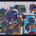 Nr. 005 - 50x70, Acryl auf Leinwand