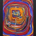 Nr. 008 - 60x80, Acryl auf Leinwand