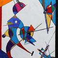 Nr. 015 - 50x70, Acryl auf Leinwand