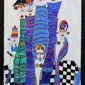 Nr. 012 - 70x100, Acryl auf Leinwand