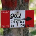 CARTELLO CAI SENTIERO 801