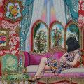 Rococo Room 76.3×61.5cm Acrylic on cotton 2017