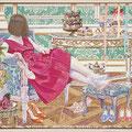 Eeny, meeny, miny, moe... Series of Fairy Tale 29×45.5cm(11.5×18in)  Acrylic on Cotton / Wood, Plexiglass-mirror, Metallic-chain