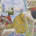 A Dream of British-Taste 30.48×40.64cm (12 x 16 inches) Acrylic on Raw Canvas