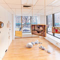 Hanging works by Naomi Okubo The works on the wall and floor by LuLu Meng    Images by Samuel Morgan photography