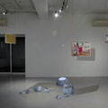 Hanging works by Naomi Okubo The works on the wall and floor by LuLu Meng Courtesy of GALLERY MoMo