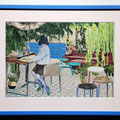 """Magazine#3"" 43×28.9cm Acrylic on cotton Commission Work for ZEIT-Magazine"