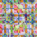 パターン  アクリル・綿布・パネル  410 x 318 mm / Pattern   Acrylic,cotton and panel
