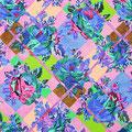 Pattern #3  41.0 x 53.0cm Acrylic on cotton cloth