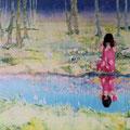 誰もがナルシスのようだったなら   アクリル・油彩・綿布・パネル   1167×910  If everyone were like a Narcissus