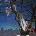 夜が明けるまで  アクリル・綿布・パネル  1120 x 1620mm / Until Dawn   Acrylic,cotton and panel