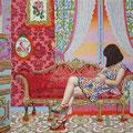 Rococo Room#2 Acrylic on Cotton 91.0×72.7/ 36×29 inch  2018
