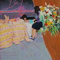 おやすみのまえに   アクリル・油彩・綿布・パネル   606×727