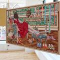 Eeny, meeny, miny, moe... Series of Fairy Tale (Front) 29×45.5cm(11.5×18in)  Acrylic on Cotton / Wood, Plexiglass-mirror, Metallic-chain