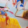 わたしも13歳の女の子だった   アクリル・油彩・綿布・パネル   970×1303 / I was 14-years old  girl   Oil on canvas