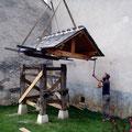 Grutage de la toiture
