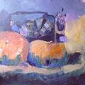 Painting pumpkins: Acryl auf Leinwand, 100 x 100 cm