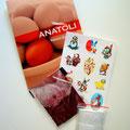 Le contenu du kit teinture pour oeufs rouges