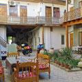 Unser schönes kleines Hotel in Buchara.