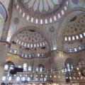 Die wunderschöne Sultan-Ahmed-Moschee (Blaue Moschee)
