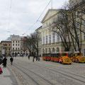 Schön renovierte Strassenzüge in Lviv.