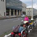 Wir kommen morgens um 7 Uhr in Beppu an.
