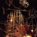 Grandios, was für das Feuerwerk aufgebaut wurde.