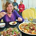 Die chinesische Küche ist eine Wucht, wir geniessen die Vielfalt sehr.