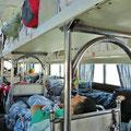 Bus mit Schlafkojen, für lange Reisen in China üblich.