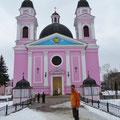 Die Heiliggeistkathedrale von Tschernowitz - in Pink.
