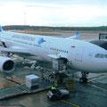 Garuda Indonesia, für uns die ideale Fluggesellschaft nach Europa. Günstig und - genial - 60 kg Freigepäck pro Person!