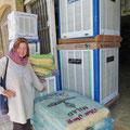 Klevere Kühlgeräte: Wasser rieselt über Reisstroh, die kühle Luft wird mit einem Gebläse verteilt.