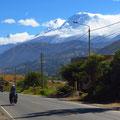 Richtung Süden entlang der Cordillera Blanca.
