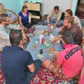 Iranisch-estnisch-österreichisch-schweizerisches Frühstück bei Ahmad in Isfahan.