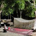 Ein himmlisches Nachtlager nur für uns Gäste.