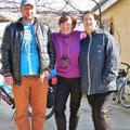 Bea mit Angela und Constantin.