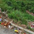 Aus dem Auge, aus dem Sinn. Uns stinkt die Müllentsorgung entlang der Strasse.