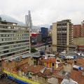 Bogota, von unserem Hotel aus.
