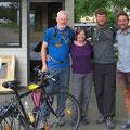 Walter und Philipp aus Österreich sind ebenfalls mit dem Rad unterwegs.