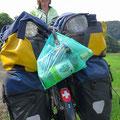 Abfall fährt immer mit, manchmal über Stunden bis zum nächsten Lawson oder 7Eleven.