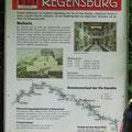 Die Walhalla bei Regensburg. Auch hier keine Hinweise auf Zeltplätze.