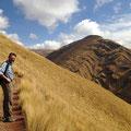 Wanderung von Tambomachay, einem Wasserheiligtum der Inkas ein paar Kilometer nördlich von Cusco, nach Lamay.