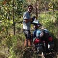 Wir finden vor Pallasca einen ruhigen Zeltplatz im Wald.