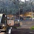 Bei Boqueron wird auf 3077 m ü.M. Kohle abgebaut, d.h. viel Dreck für uns.