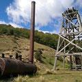Ehemalige Goldmine. Der Betrieb wurde erst vor gut 25 Jahren eingestellt.