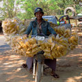 Fliegender Händler mit seinen Chips.