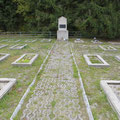 Ein Soldatenfriedhof aus dem Zweiten Weltkrieg.