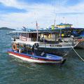 Auslegerboote wie auf den Philippinen gibt es nicht.