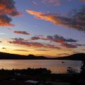 Ein schöner Abend an der Laguna Sausacocha.