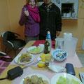 Claudio hat extra für uns ein supe rgutes Nachtessen gekocht!